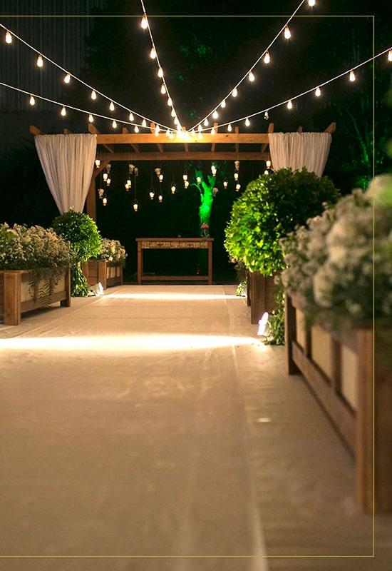espaço jardim para casamento ao ar livre buffet della re
